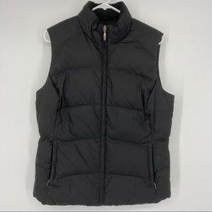 Eddie Bauer Medium Black Quilted Goose Down Vest